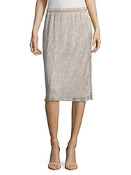 Saks Fifth Avenue Shimmer Midi Skirt Blush