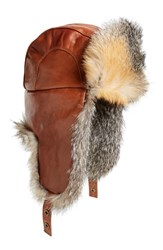 Men's Paul Leinburd Fox Fur Aviator Hat