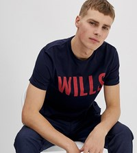 Jack Wills Wentworth Graphic T Shirt In Navy