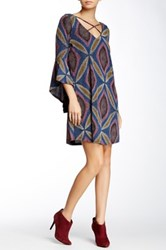 Voom By Joy Han Samantha Bell Sleeve Dress Blue