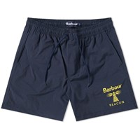 Barbour Beacon Logo Swim Short Blue