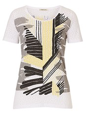 Betty Barclay Graphic Print Top Yellow