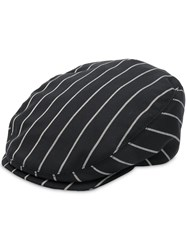 Dolce And Gabbana Striped Baker Boy Hat Black