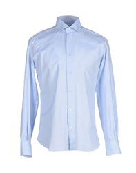 Mazzarelli Shirts Shirts Men Sky Blue