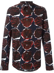 Paul Smith Ps By Rose Print Shirt Red