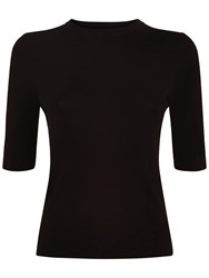 Jaeger Compact Knitted Top Black