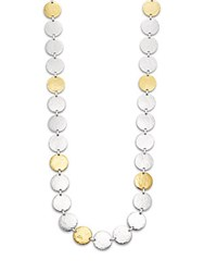 Gurhan Sterling Silver Disc Necklace Silver Gold