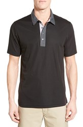 Men's Travis Mathew Trim Fit Golf Polo Black