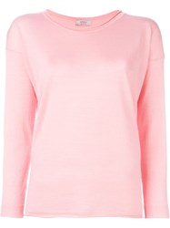 Liska Scoop Neck Sweater Pink And Purple