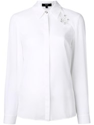 Versus Safety Pin Detail Shirt White