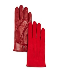 Bloomingdale's Suede Tech Gloves Red
