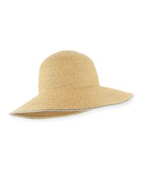 Eric Javits Hampton Squishee Packable Sun Hat Beige