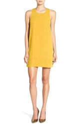 Leith Women's Racerback Shift Dress Yellow Mimosa