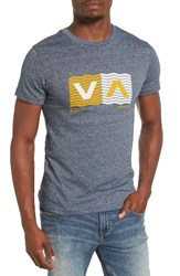 Rvca Men's Wavy Logo T Shirt