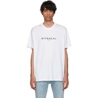 Givenchy White Oversized Logo T Shirt 100 White