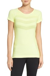 Zella Women's Infrasonic Seamless Tee Yellow Chill