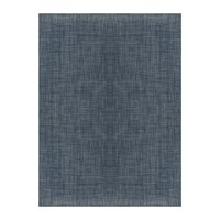 Chilewich Basketweave Rug Denim Blue