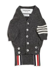 Thom Browne Cashmere Dog Cardigan Light Blue Light Grey