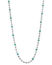 Ippolita Rock Candy Long Multi Stone And Flat Hammered Bead Necklace In Turquoise 36 Turquoise Silver