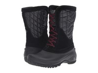 The North Face Thermoball Utility Mid Tnf Black Deep Garnet Red Women's Pull On Boots