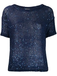 Snobby Sheep Sequin Knit Top Blue