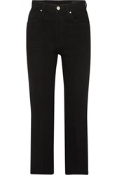 Gold Sign Goldsign The Cropped A High Rise Straight Leg Jeans Black