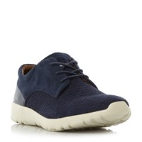 Tommy Hilfiger Furlong 2B1 Suede Wedge Sole Trainers Navy