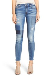 7 For All Mankindr Women's Mankind Ankle Skinny Jeans Light Patch Denim