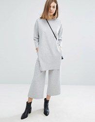 Dr. Denim Dr Abel Wide Leg Crop Co Ord Trouser Light Grey Mix