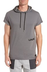 Under Armour Pursuit Short Sleeve Hoodie Graphite Graphite Black
