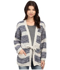 Obey Rosewell Cardigan Indigo Women's Sweater Blue