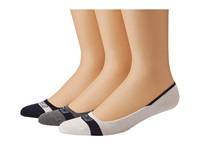 Sperry Signature Invisible Liner 3 Pair Pack Navy White Men's Crew Cut Socks Shoes Blue