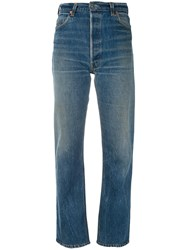 Re Done Straight Jeans Women Cotton 26 Blue
