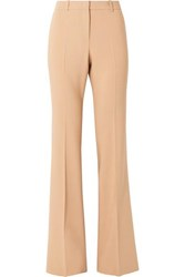 Michael Kors Collection Stretch Wool Blend Flared Pants Sand