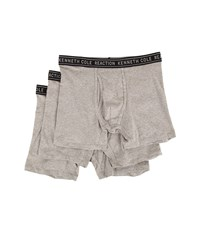 Kenneth Cole Reaction 3 Pack Boxer Brief Cotton Stretch Light Grey Heather Men's Underwear Gray