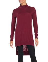 Splendid Knit Hi Lo Tunic Cranberry