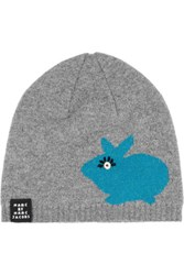 Marc By Marc Jacobs Don't Sweat My Pet Merino Wool Beanie Gray