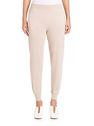 Stella Mccartney Virgin Wool And Silk Jogger Pants Oatmeal