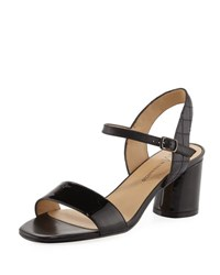 Neiman Marcus Landy Leather City Sandal Black