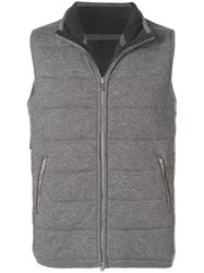 N.Peal The Mall Quilted Gilet Grey