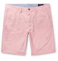 Polo Ralph Lauren Slim Fit Cotton Blend Twill Chino Shorts Pink