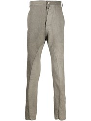 Masnada Asymmetric Fly Cotton Blend Trousers 60