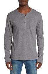 Alternative Apparel Men's Classic Henley Oxford Grey Heather