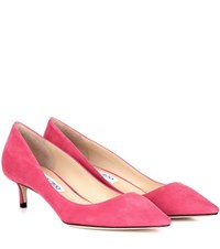 Jimmy Choo Romy 40 Suede Pumps Pink