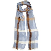 Dents Ladies Classic Check Woven Scarf Denim
