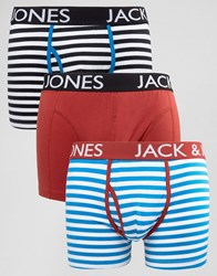 Jack And Jones Trunks 3 Pack With Stripe Multi