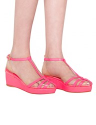 Pixie Market Clear Pink Wedges