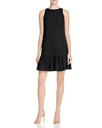 Tracy Reese Jacquard Flounce Shift Dress Black