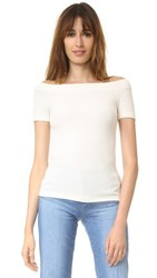 Getting Back To Square One Off Shoulder Tee Vanilla