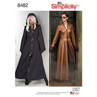 Simplicity Women's Cosplay Coats Sewing Pattern 8482